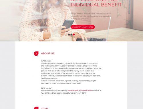 Webdesign und Webentwicklung midge medical