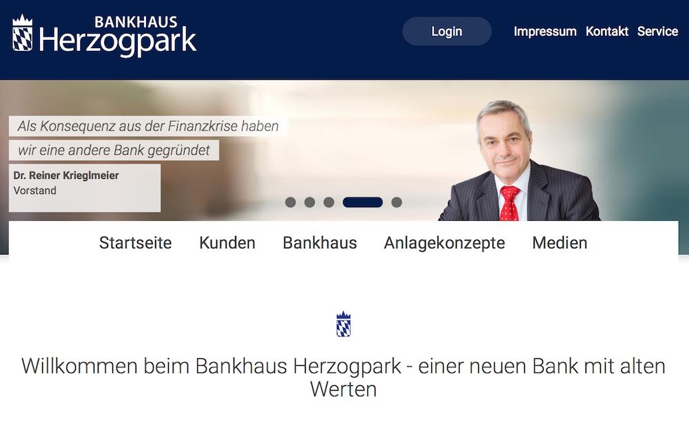 Startseite Bankhaus-Herzogpark