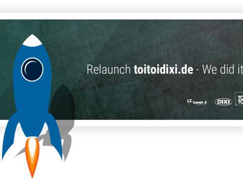 Relaunch toitoidixi.de – Endlich mobile Toiletten online mieten