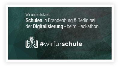Wir sind dabei: #wirfuerschule Hackathon